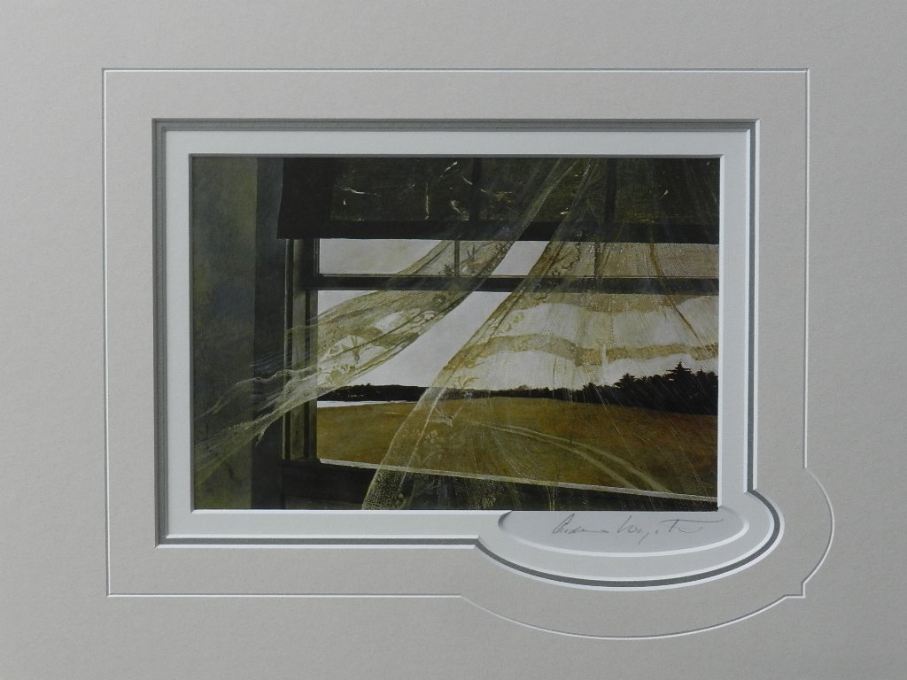 """63: Andrew Wyeth """"Wind From the Sea"""" Pencil Signed"""