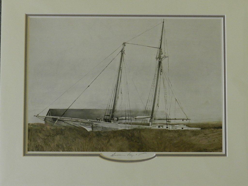 """103: Andrew Wyeth """"The Slip"""" Pencil Signed"""
