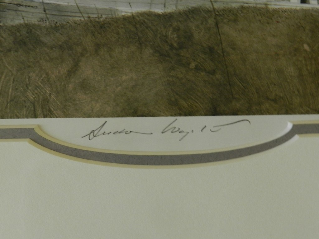 """103: Andrew Wyeth """"The Slip"""" Pencil Signed - 2"""