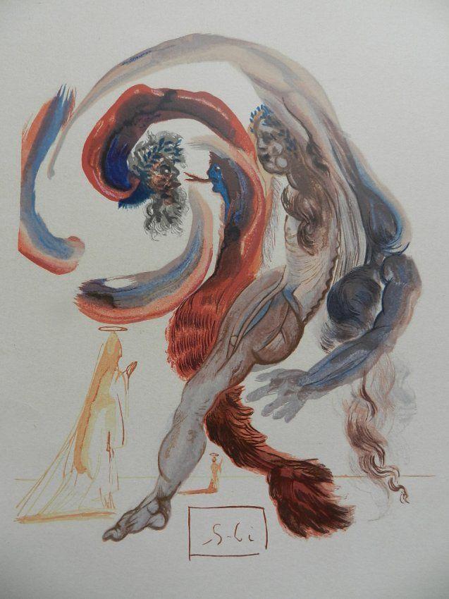 139: Original Salvador Dali Woodblock