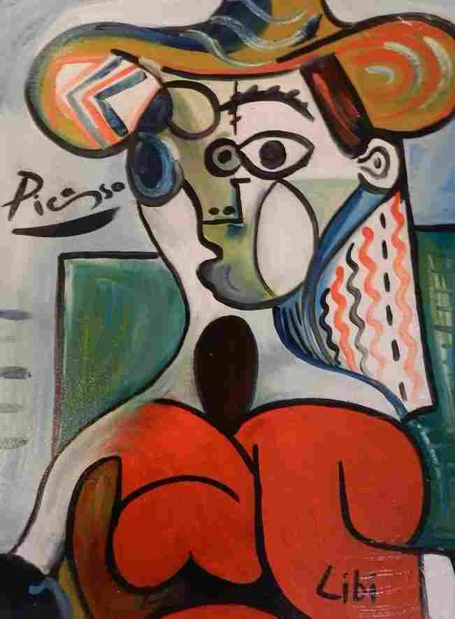 141: Oil on Canvas Signed Picasso