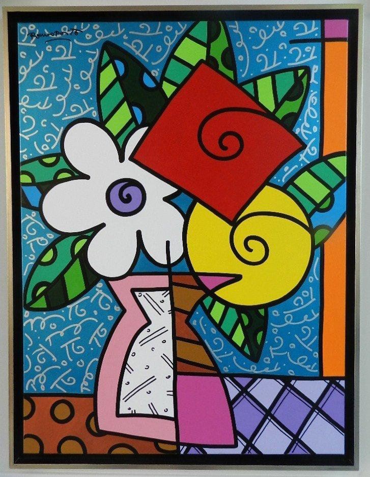 115: Romero Britto Original Acrylic on Canvas