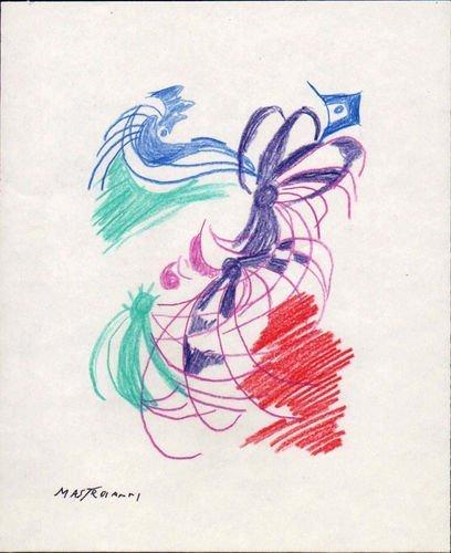 149: UMBERTO MASTROIANNI - PASTEL ON PAPER