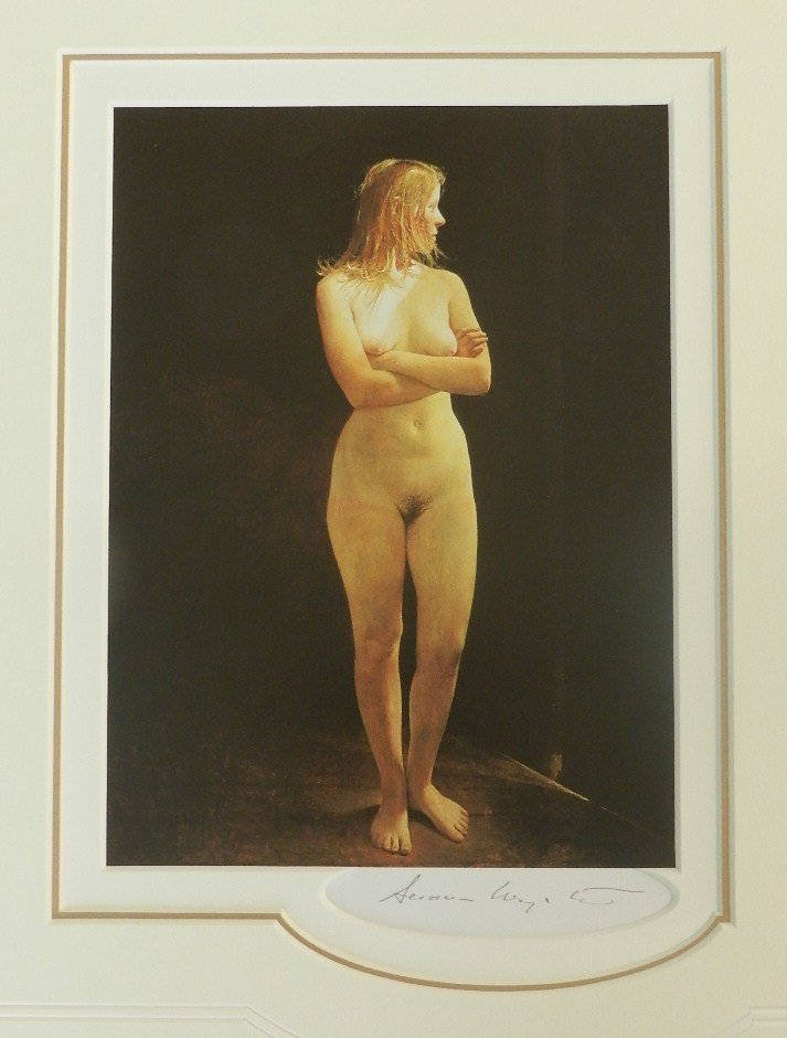 """3: Andrew Wyeth """"Untitled"""" Pencil Signed"""