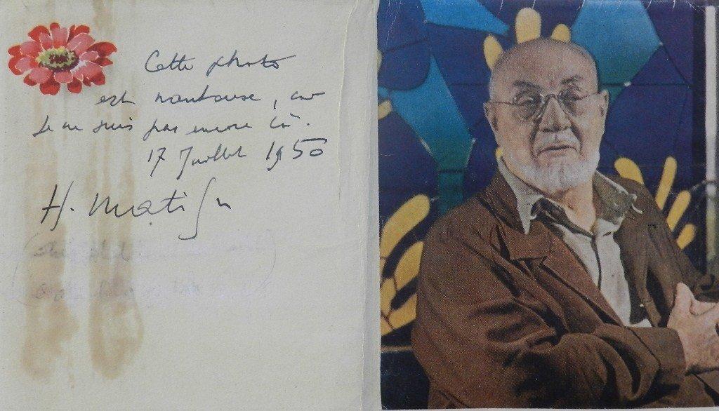 5: Henri Matisse Autograph Signed Card