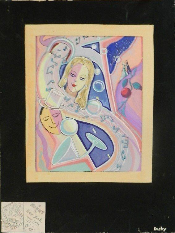 6: George Meade Easby (1918-2005)  Acrylic on Board