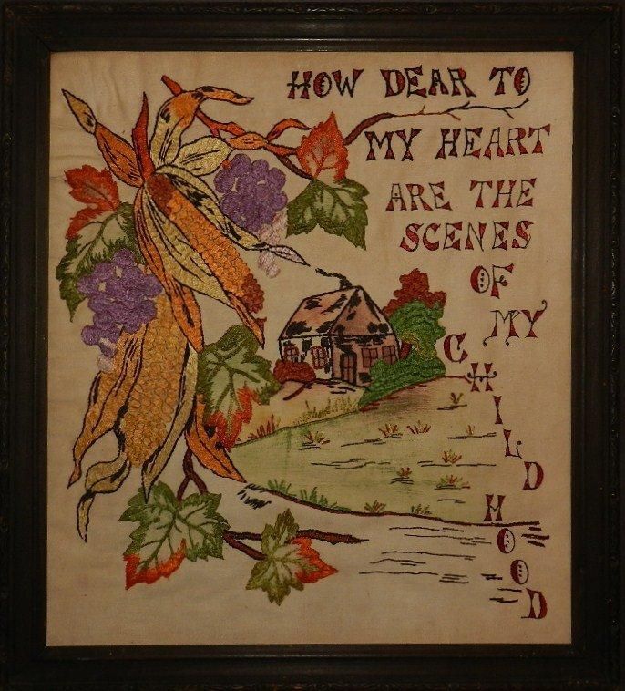 10:  Folk Art Sampler mid century