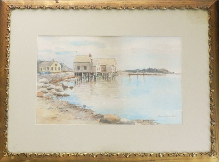 12: Marion Browning Curtis, 20th c., Watercolor