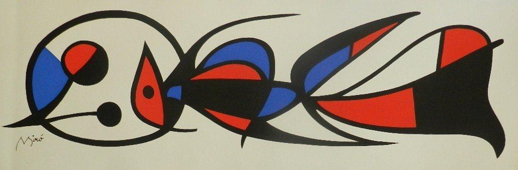 22: Joan Miro, (Spanish, 1893-1983) Lithograph