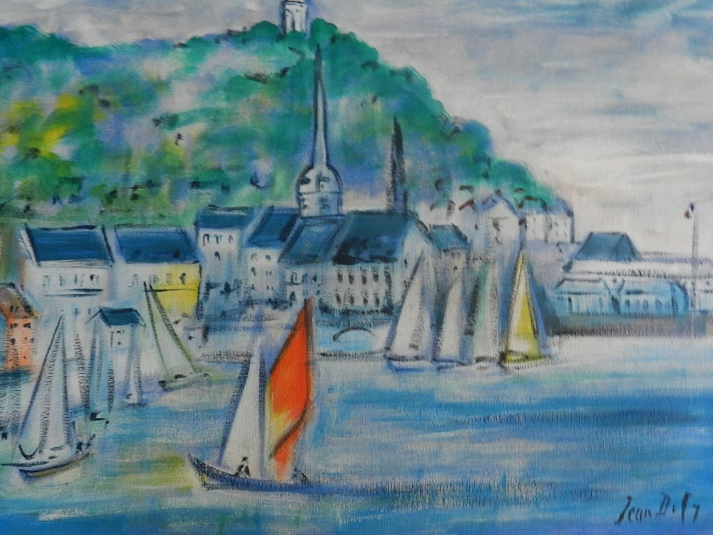 24: Jean Dufy (French, 1888-1964) Oil on Canvas