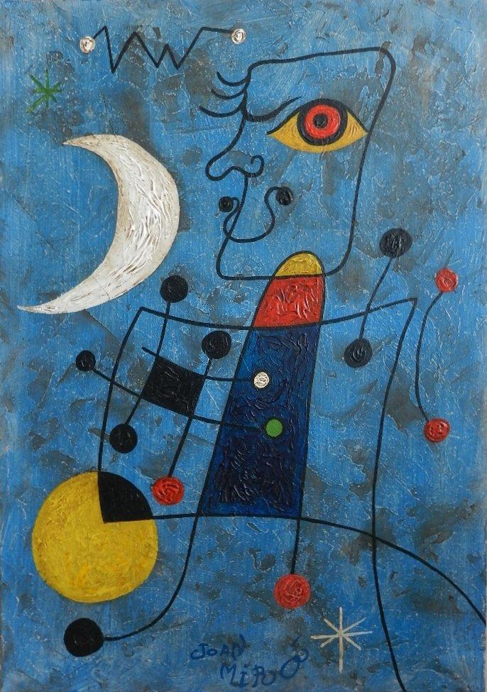 83: Oil on Board Signed Joan Miro