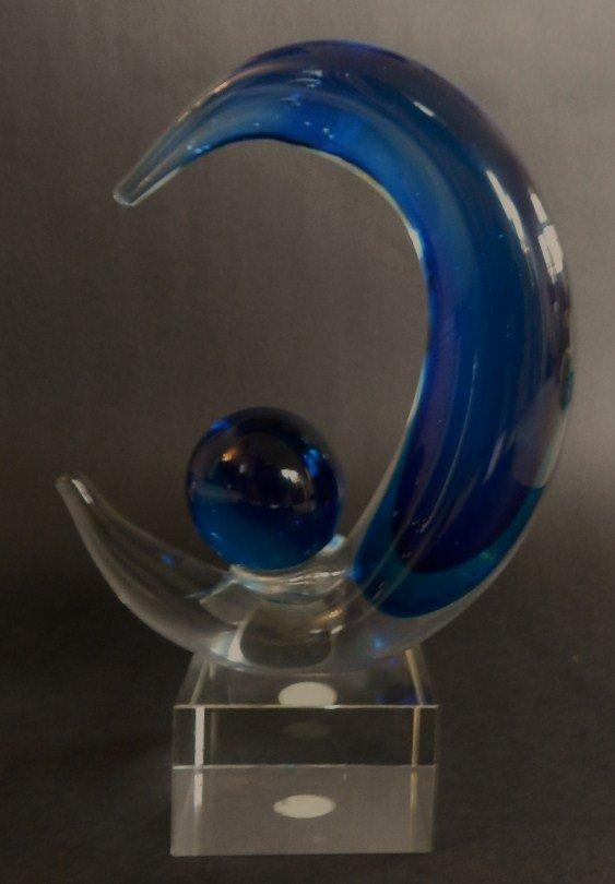 11: Murano Glass Moon Sculpture
