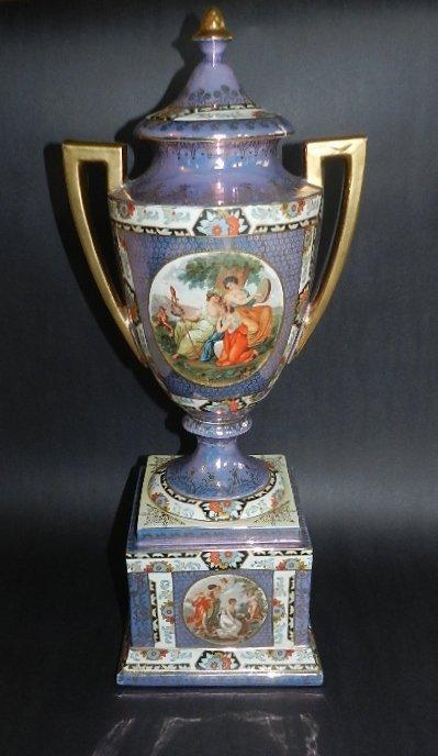 14: 19th C French Porcelain Lidded Urn