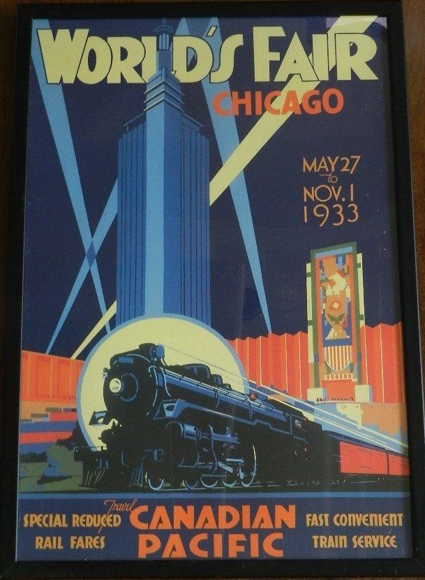 16: 1933 Chicago Worlds Fair Poster