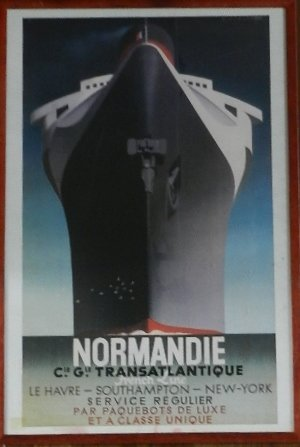 18: Adolphe Mouron Cassandre, Normandie Poster