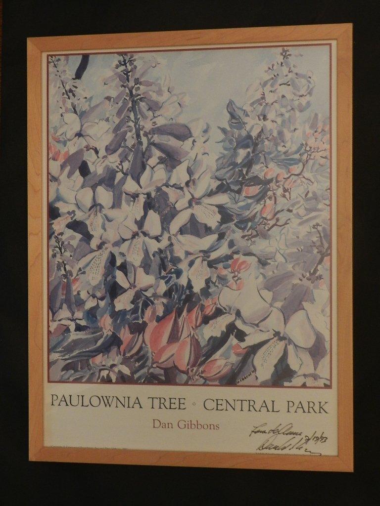 "20: Dan Gibbons ""Paulownia Tree-Central Park"" Poster"