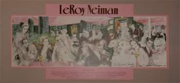 141 LeRoy Neiman Polo Lounge Hand Signed
