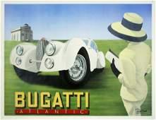 259 Vintage Poster Bugatti by Razzia