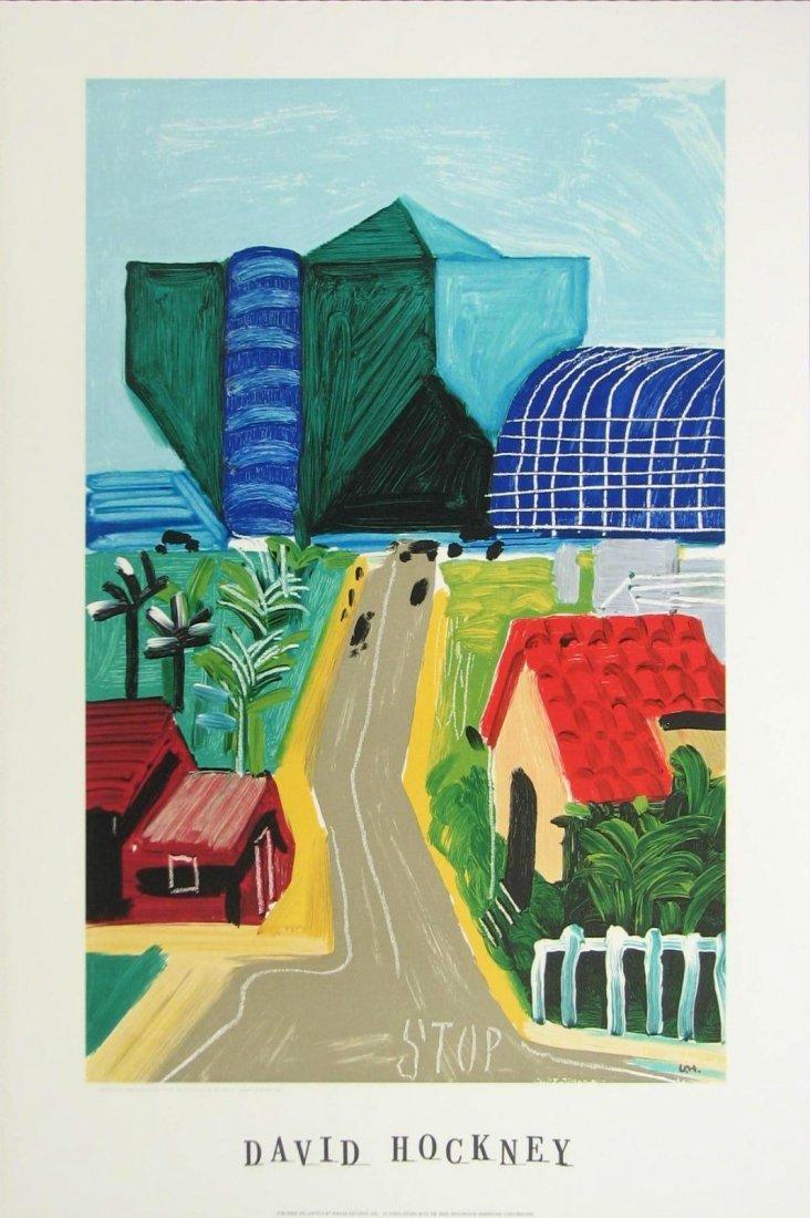 "3: David Hockney  ""Hancock St., West Hollywood I , 1989"
