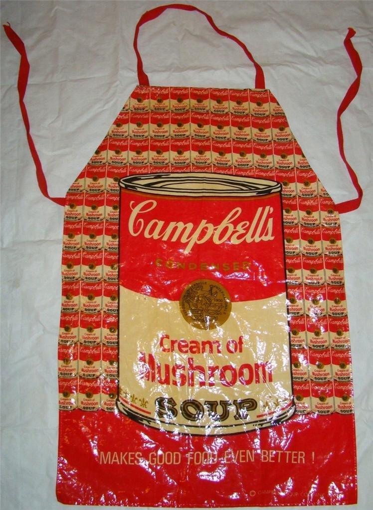"4: CAMPBELLS SOUP APRON ANDY WARHOL ""RARE"""