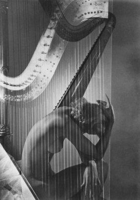 10: Horst P. Horst - Lisa with harp - Lg. Photo Gravure