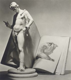 11: Horst P. Horst - Statue with Book - Photo Gravure