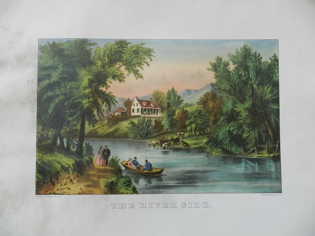 28: Original Currier & Ives Hand Colored Lithograph