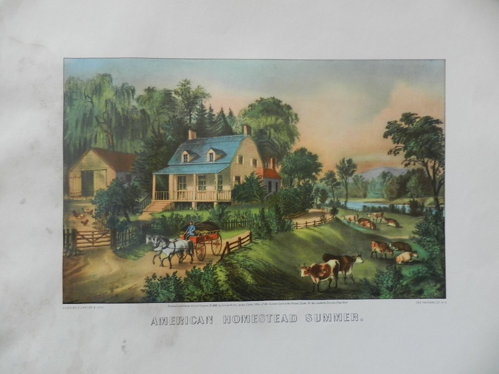 29: Original Currier & Ives Hand Colored Lithograph