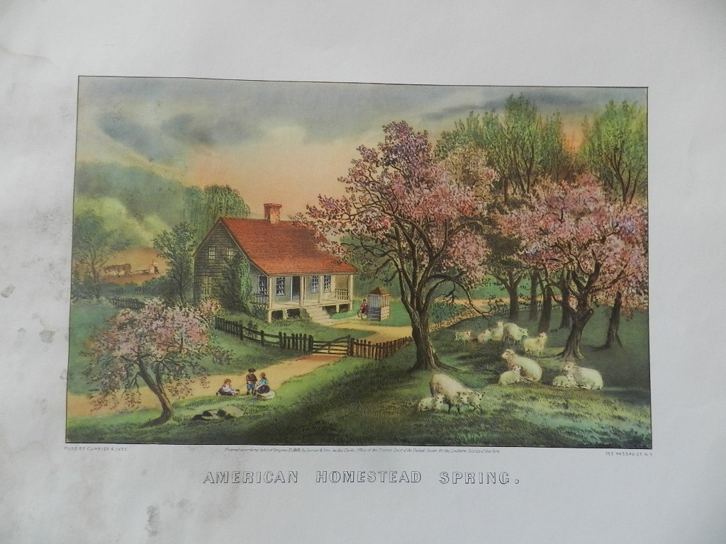 31: Original Currier & Ives Hand Colored Lithograph