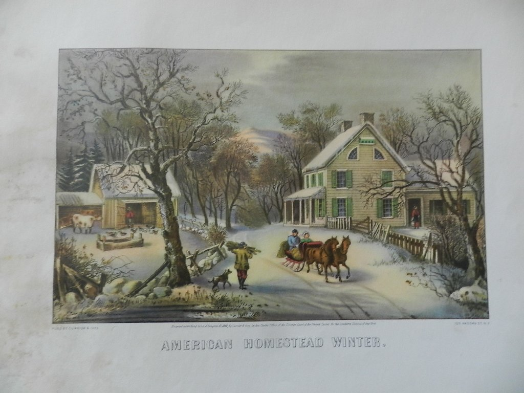32: Original Currier & Ives Hand Colored Lithograph