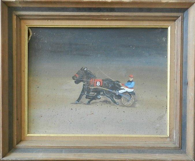 36: Early Equestrian Oil on Board