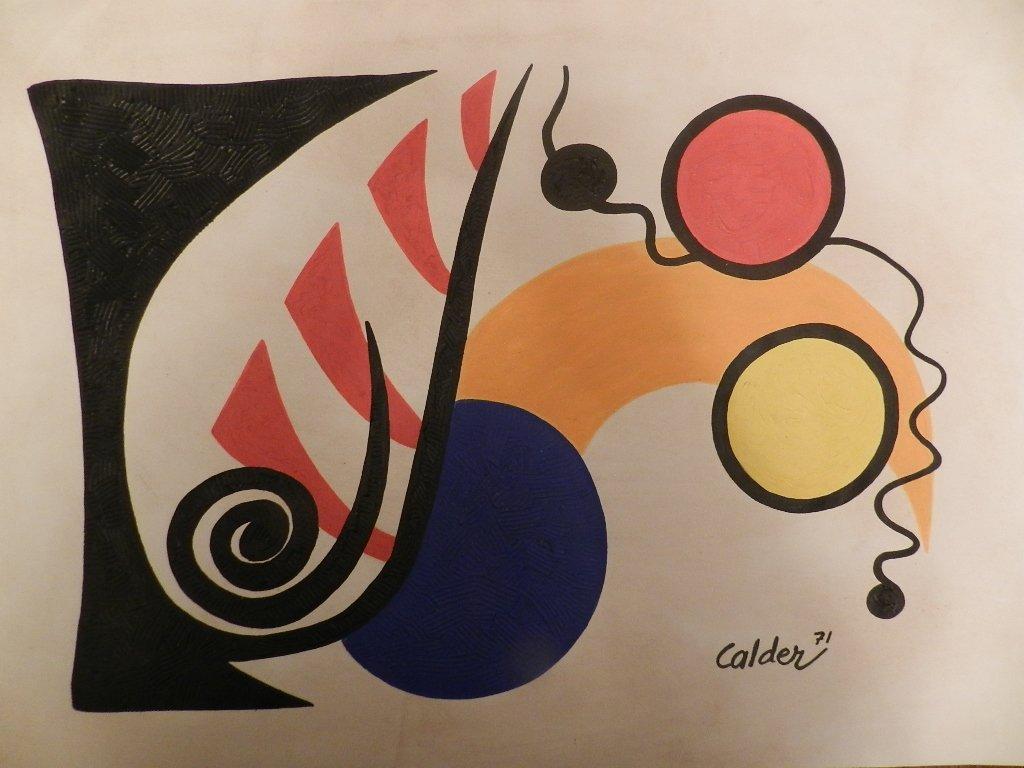 106: ALEXANDER CALDER (1898-1976) Acrylic on Paper