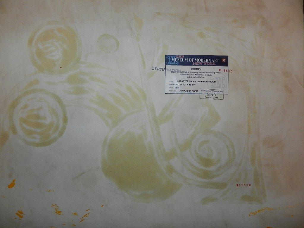 106: ALEXANDER CALDER (1898-1976) Acrylic on Paper - 3