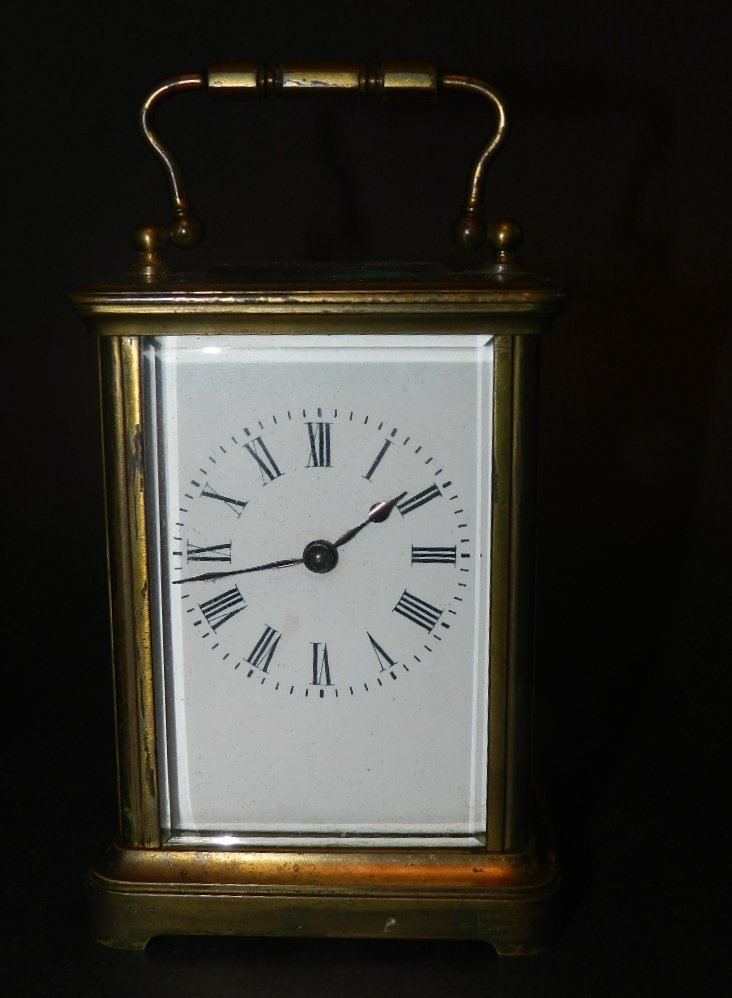 14: French Brass Carriage Clock