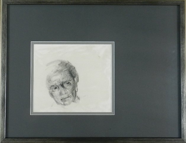 21: Charcoal Sketch of Man, Andrew Wyeth?
