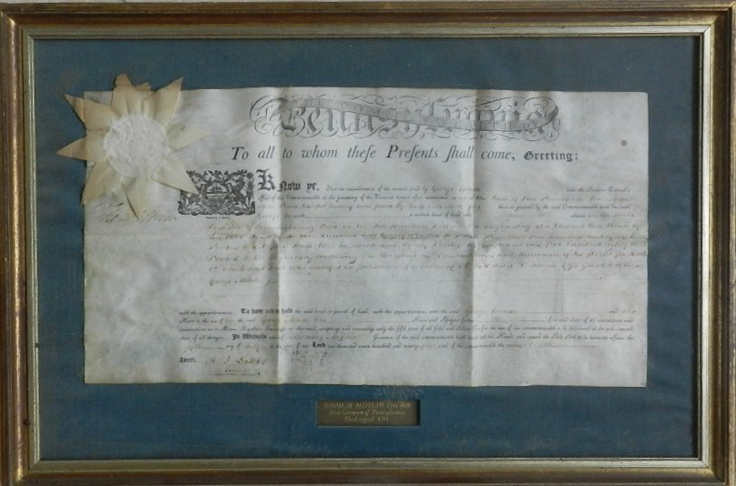 23: Thomas Mifflin (1st Governor of PA) 1794 Signed Dee