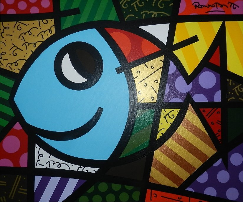256: Romero Britto Original Acrylic on Canvas