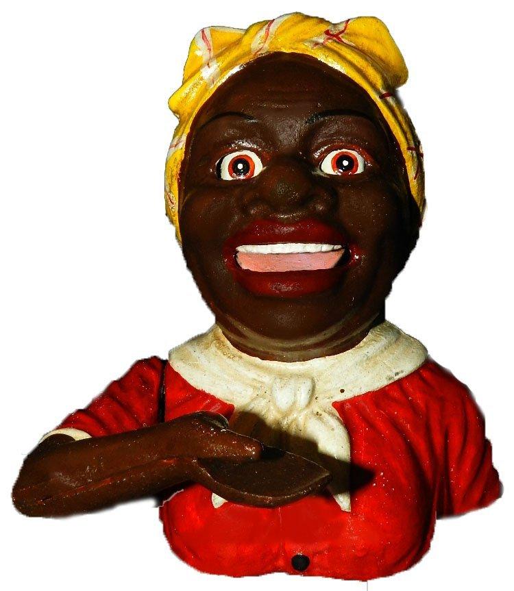 "1: ""Aunt Jemima"" Black Americana Cast Iron Bank"