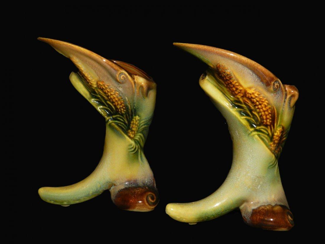 3: Pair of Cornucopia Vases by Hull