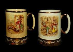 "Arthur Wood Ceramic Mugs (2) ""Old Chelsea Scenes"""