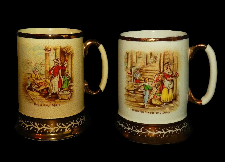 "5: Arthur Wood Ceramic Mugs (2) ""Old Chelsea Scenes"""