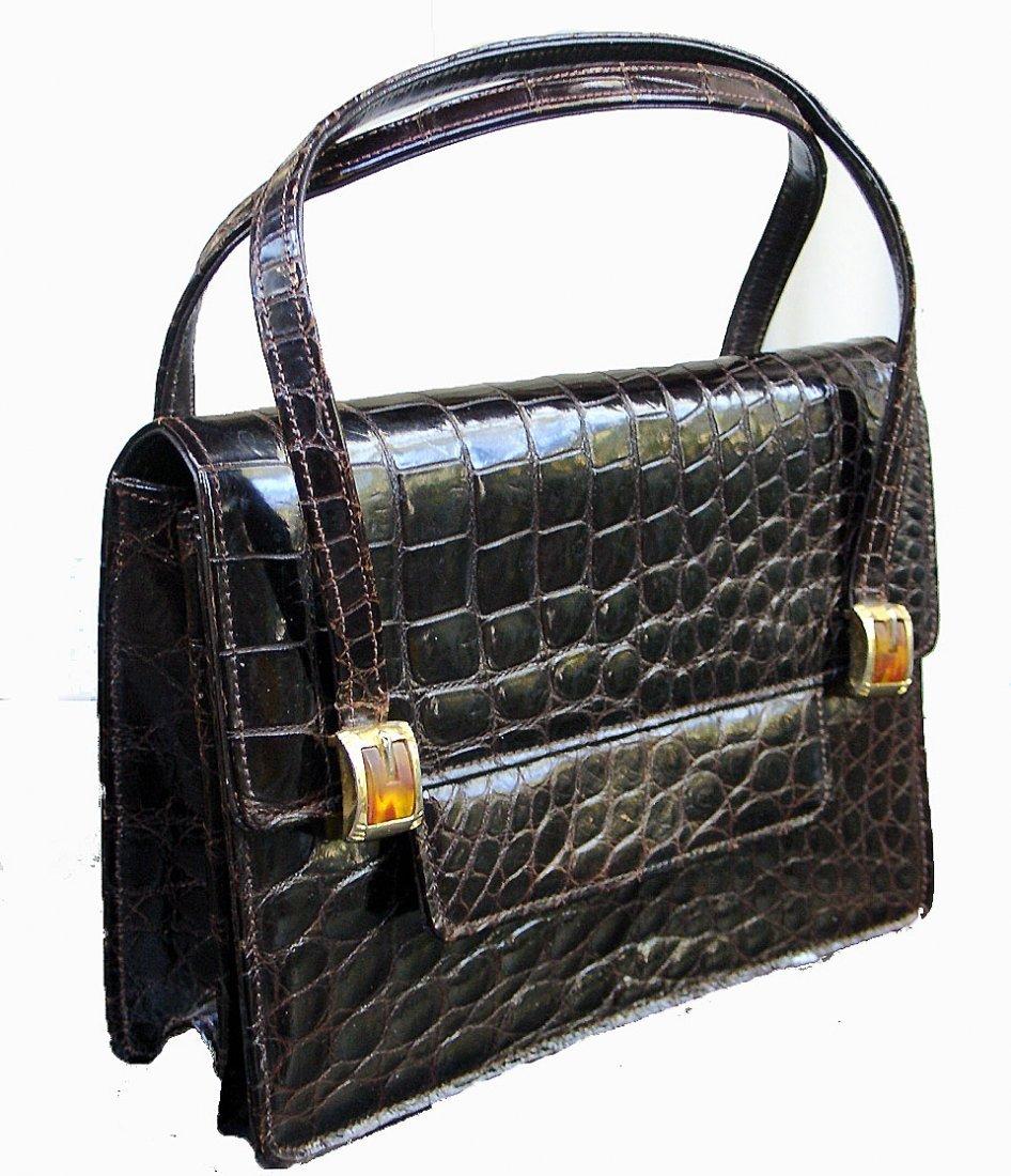 16: Vintage Saks Fifth Avenue Alligator Handbag