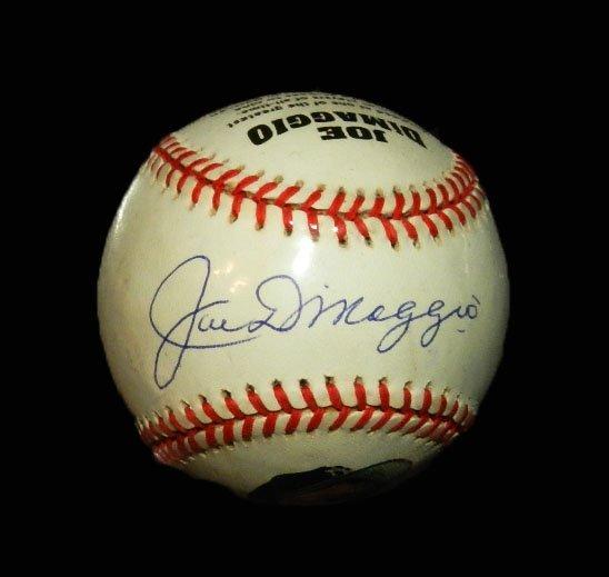 11: Joe DiMaggio Autographed Baseball