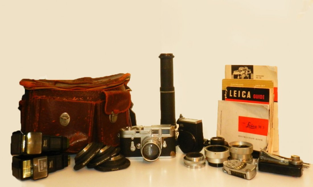 Leica Camera M3-834320 with lenses and accessories