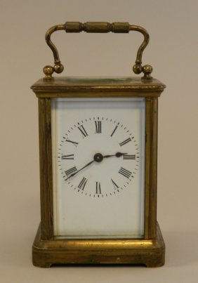 12: French Brass Carriage Clock