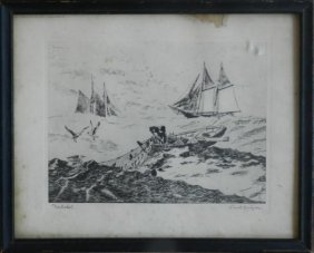 "17: Lionel Barrymore ""Nantucket"" Lithograph"