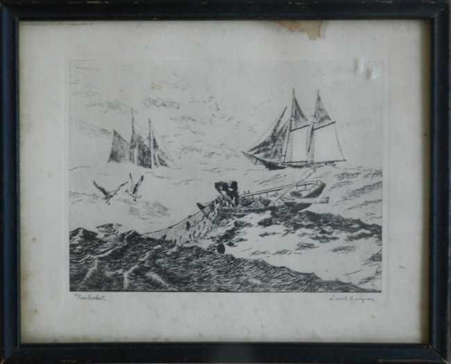 """17: Lionel Barrymore """"Nantucket"""" Lithograph"""