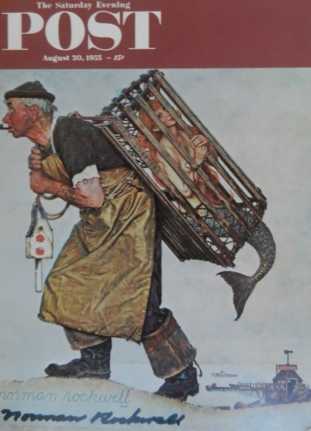 Hand Signed Norman Rockwell Lithograph