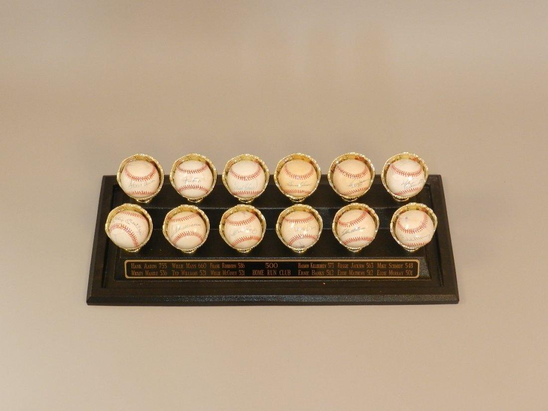 500 Homerun Club Signed Baseballs Showcase - 2