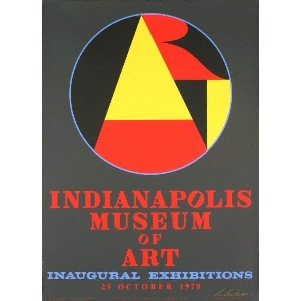 Robert Indiana- Indianapolis Museum of Art SIGNED